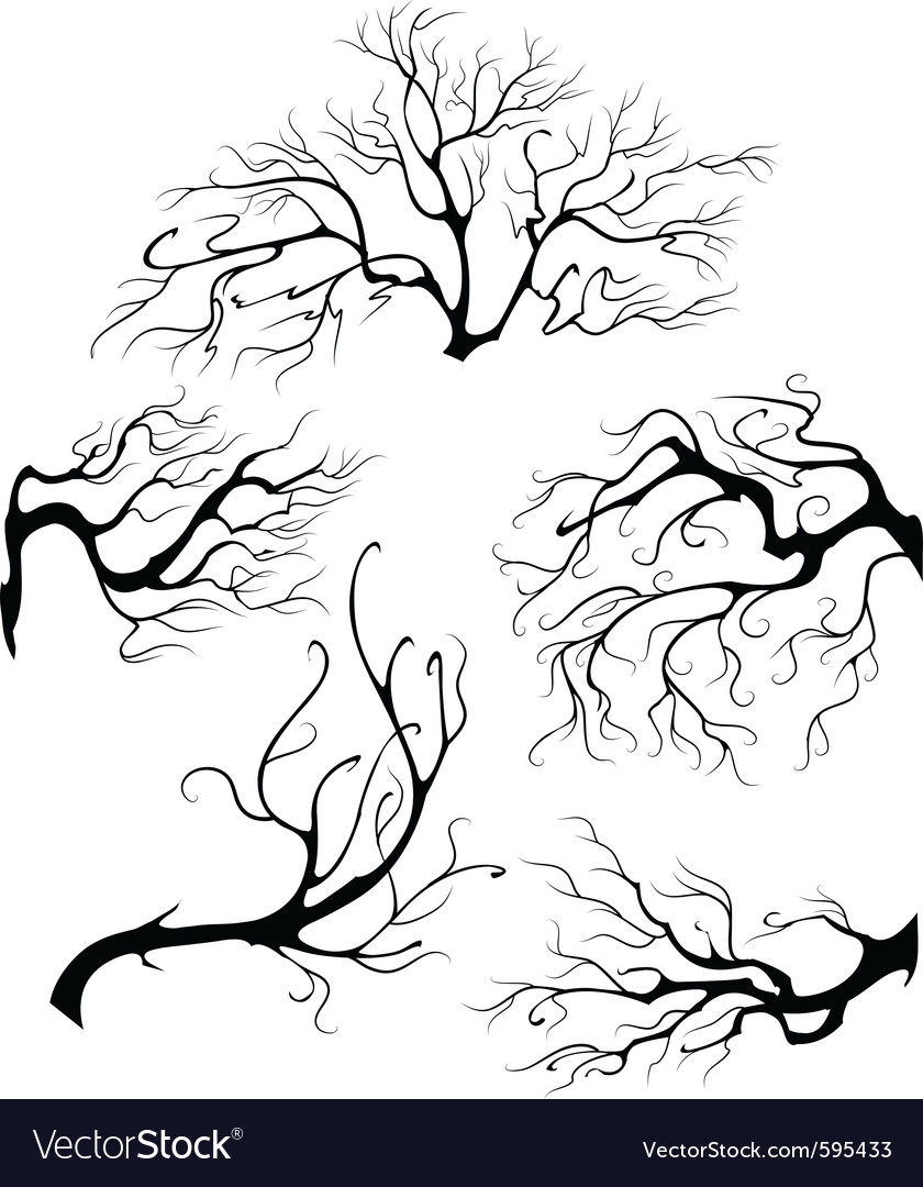 Liquid branches vector | Price: 1 Credit (USD $1)