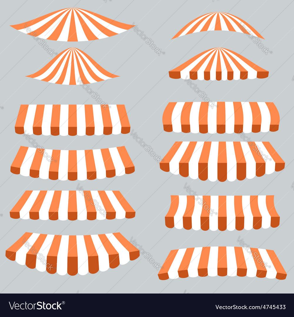 Orange white tents vector | Price: 1 Credit (USD $1)