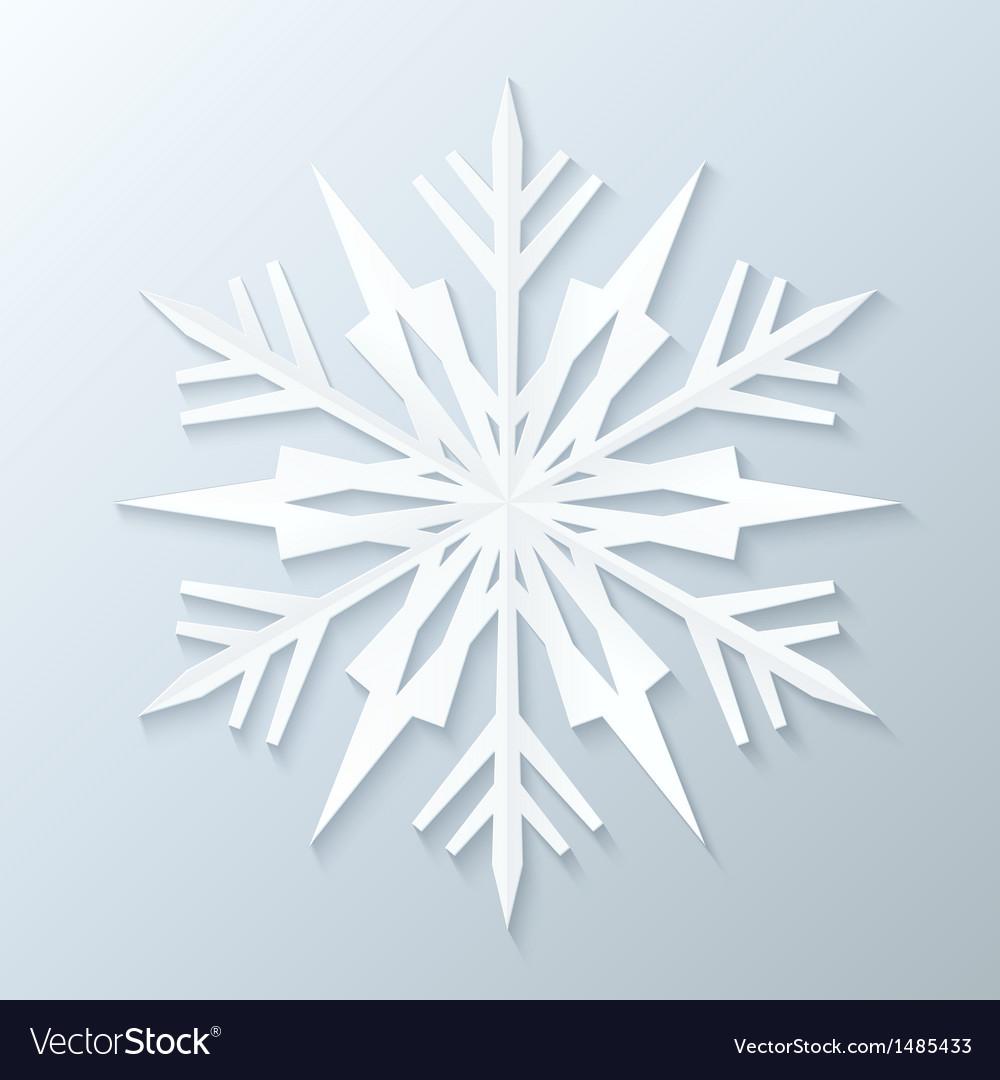 Paper snowflake vector | Price: 1 Credit (USD $1)