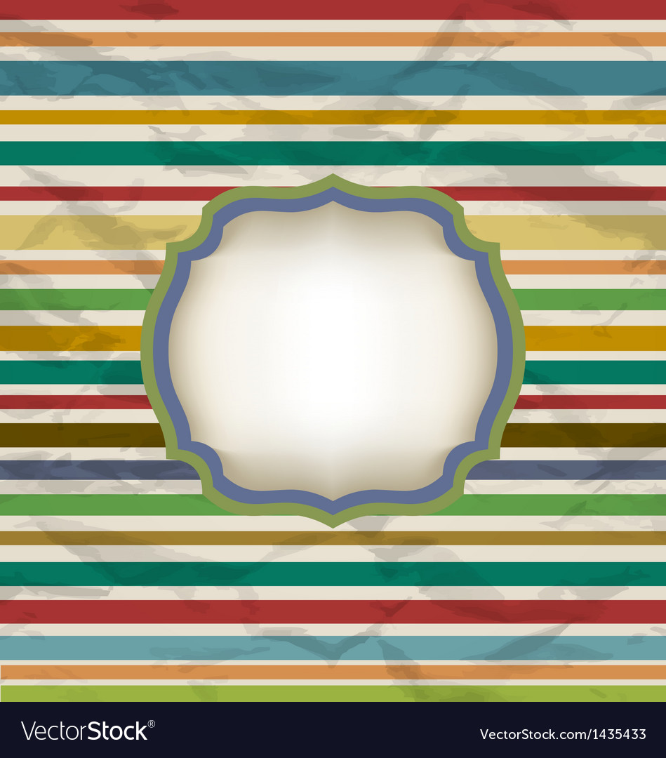 Retro stripe pattern colorful vintage background vector | Price: 1 Credit (USD $1)