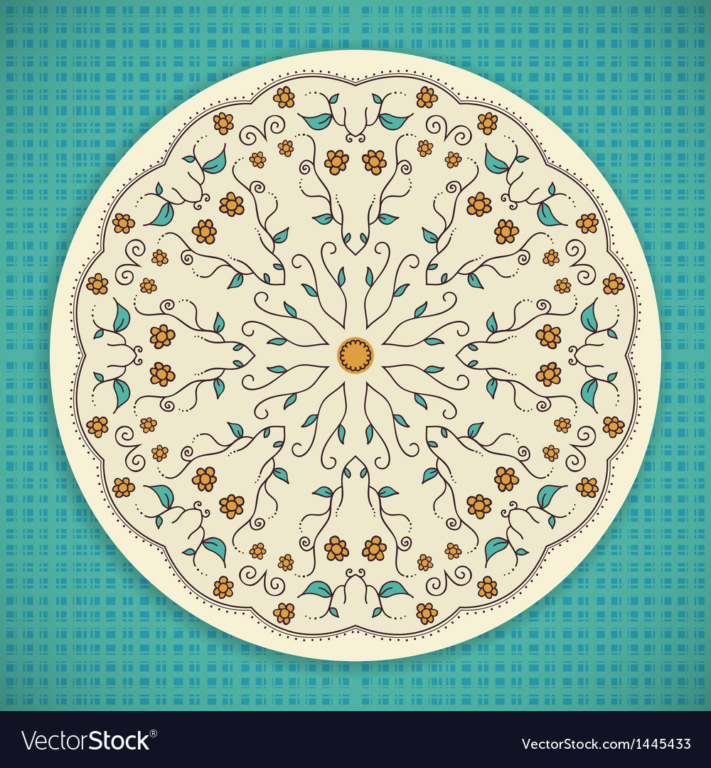 Round ornament background vector   Price: 1 Credit (USD $1)
