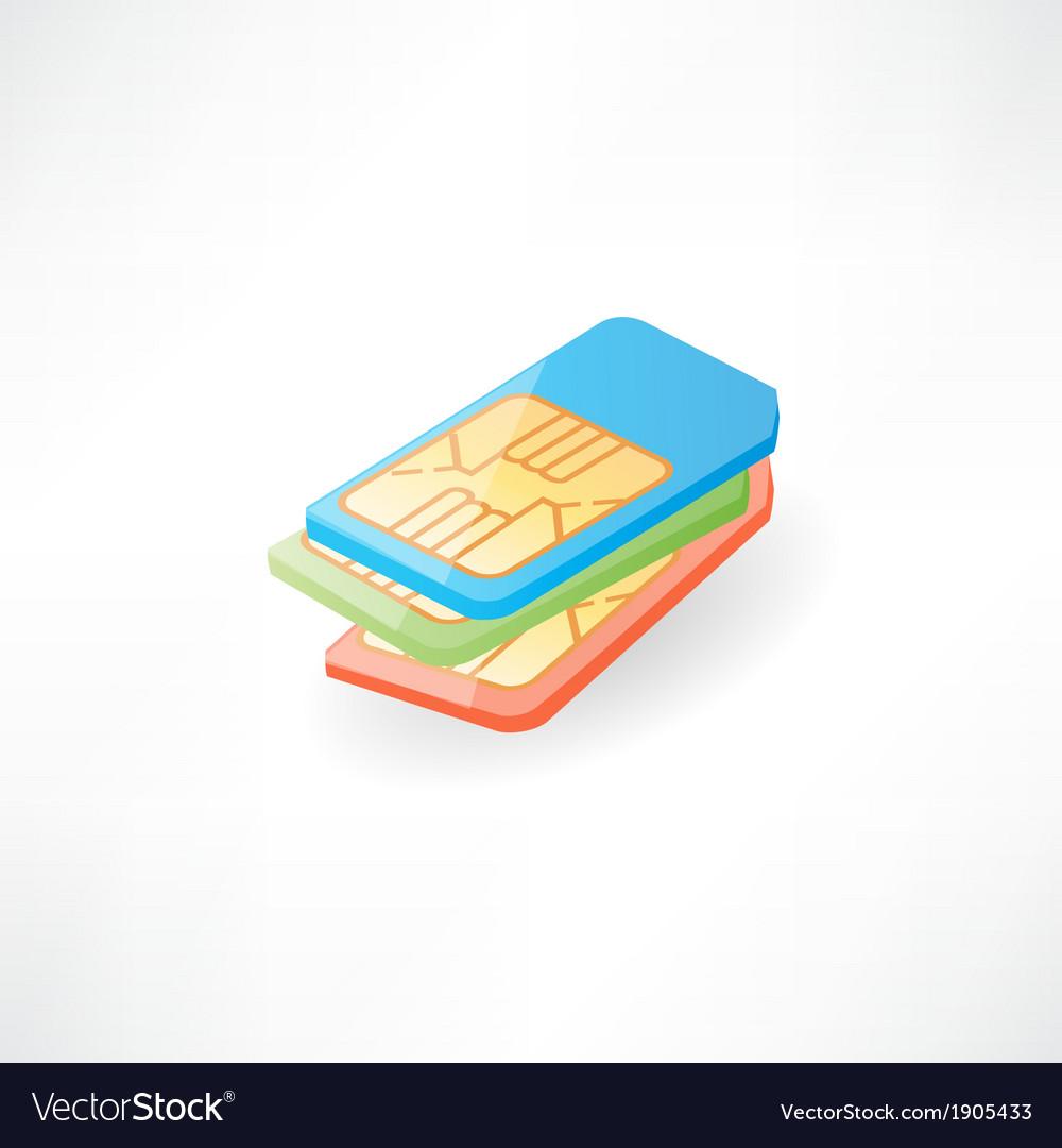 Sim card vector | Price: 1 Credit (USD $1)