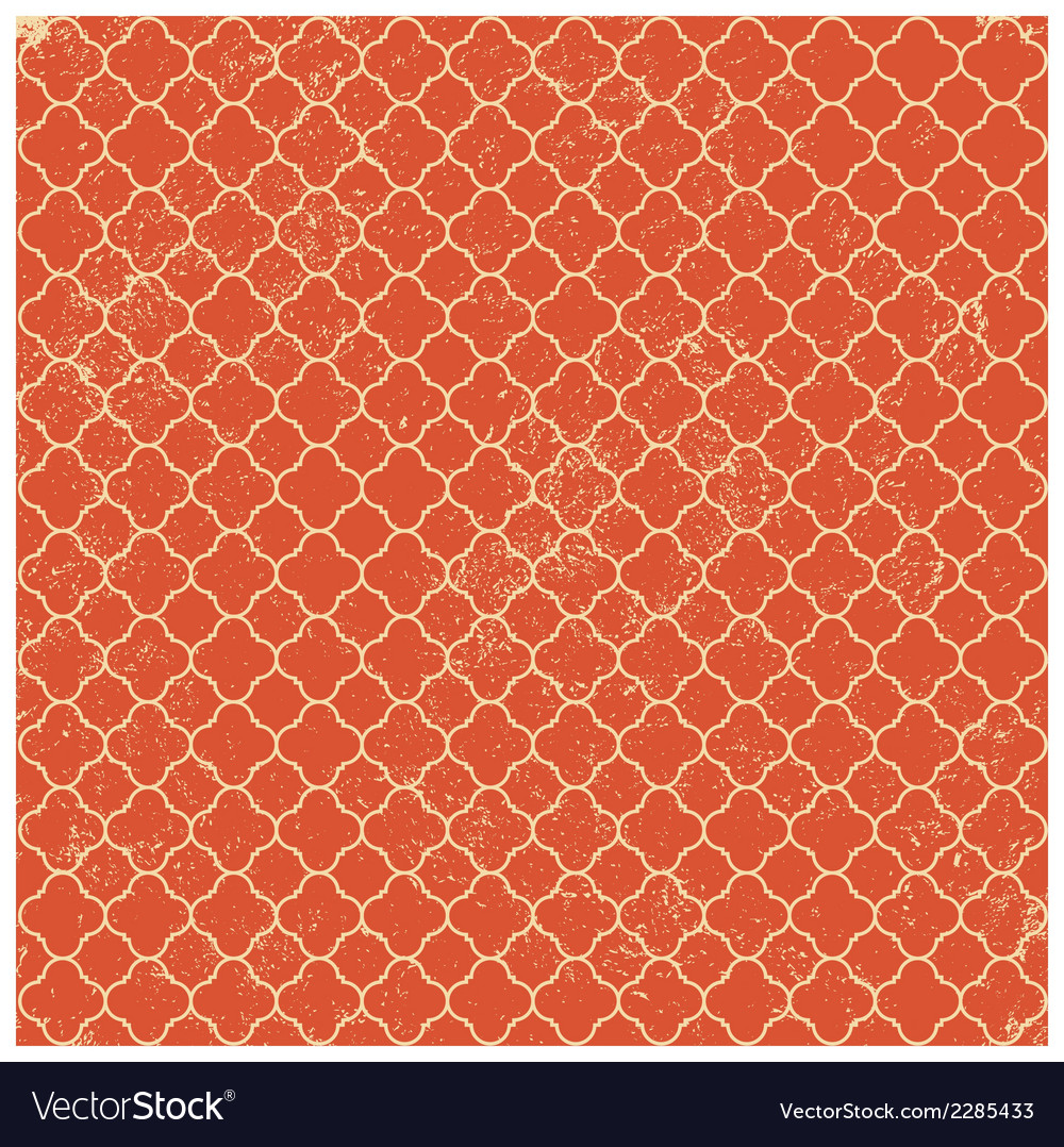 Vintage orange worn seamless pattern background vector | Price: 1 Credit (USD $1)