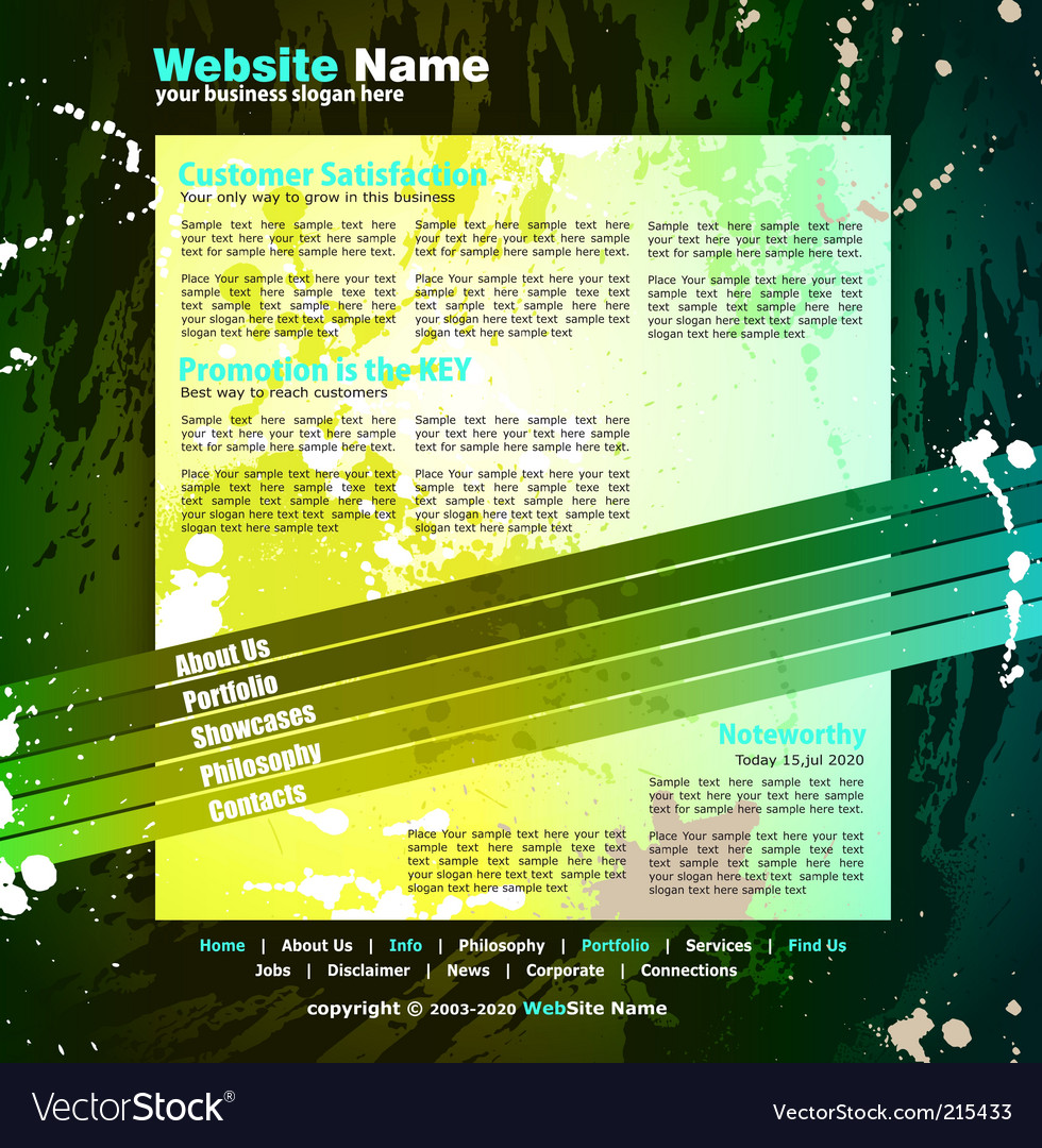 Web design template vector | Price: 3 Credit (USD $3)