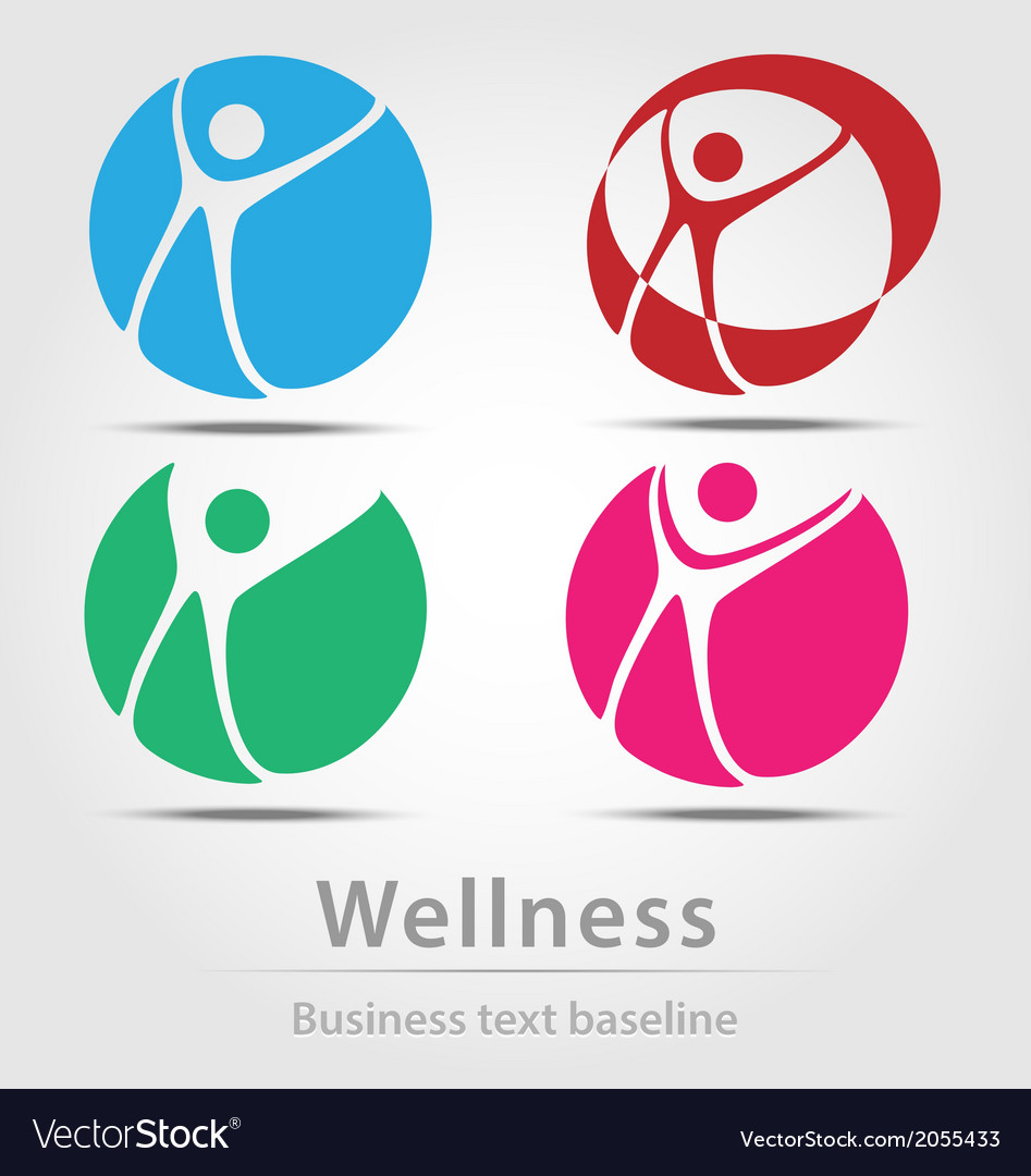 Wellness busines icon set vector | Price: 1 Credit (USD $1)