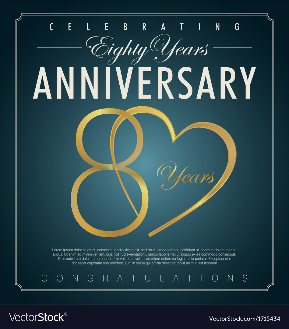 80 years anniversary background vector | Price: 1 Credit (USD $1)