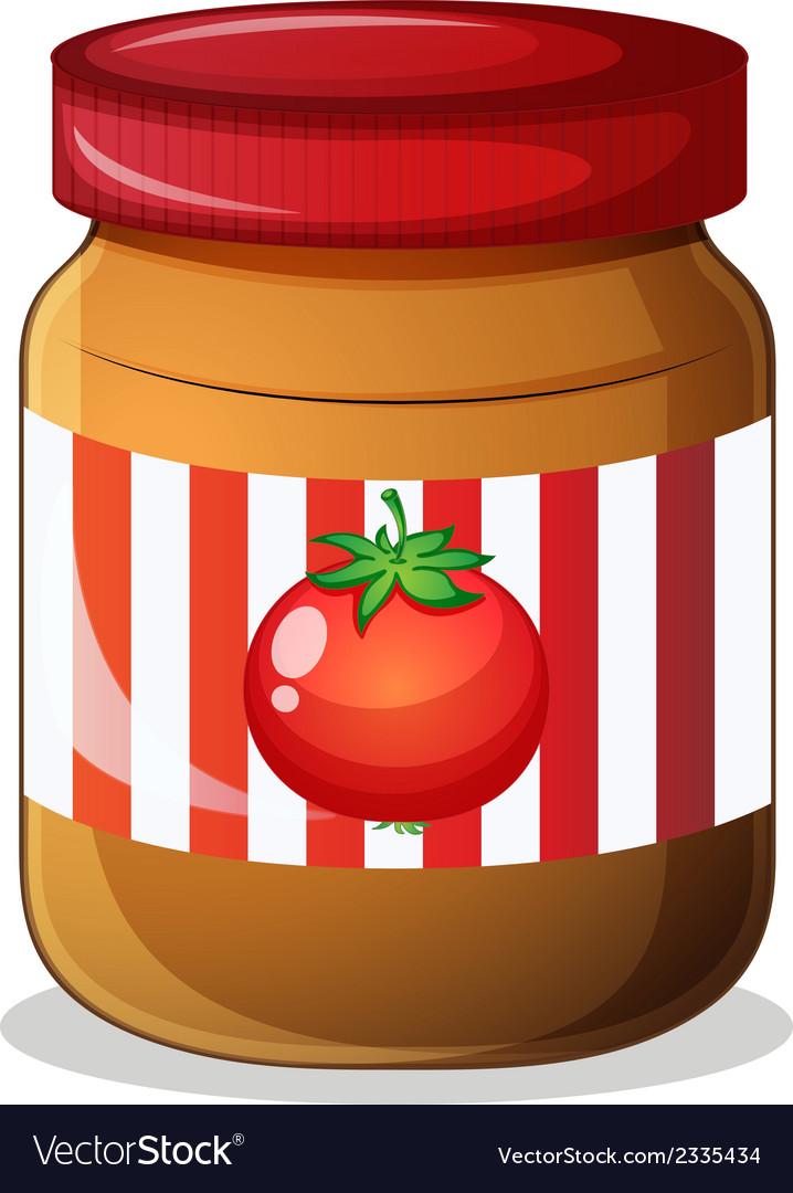 A jar of tomato jam vector | Price: 1 Credit (USD $1)