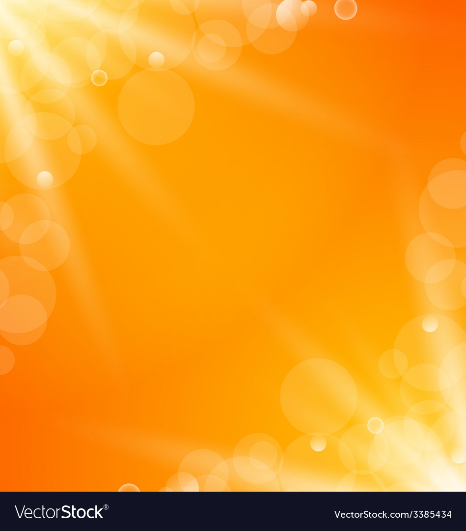 Abstract orange bright background with sun light vector | Price: 1 Credit (USD $1)