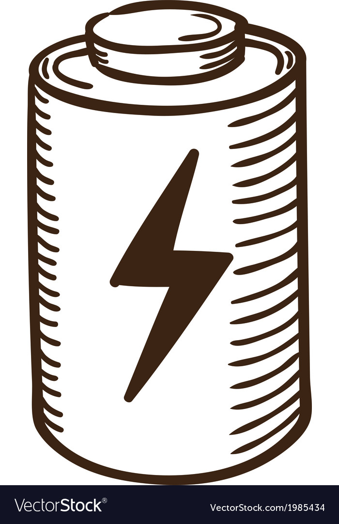 Battery symbol vector | Price: 1 Credit (USD $1)