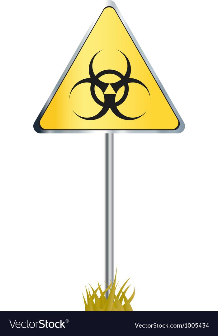 Biohazard sign icon vector | Price: 1 Credit (USD $1)
