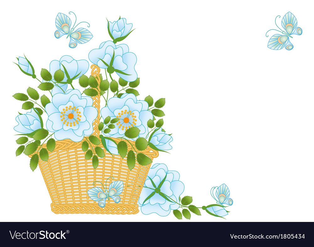 Blue roses vector | Price: 1 Credit (USD $1)