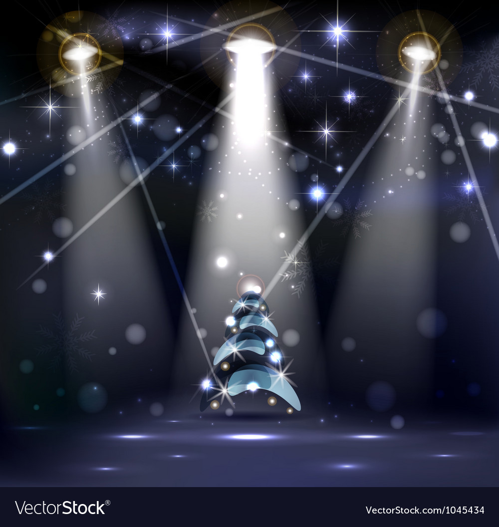 Dark christmas stage vector