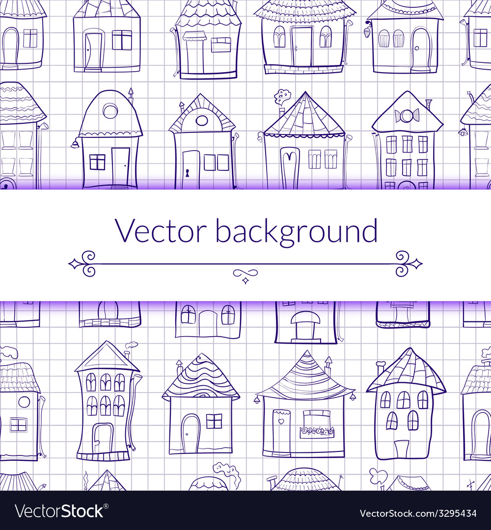 Outine houses vector | Price: 1 Credit (USD $1)