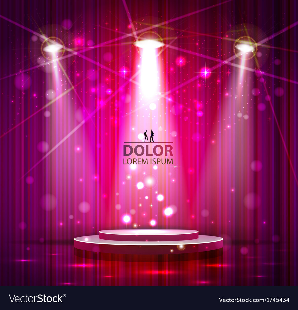 Pink stage vector | Price: 1 Credit (USD $1)