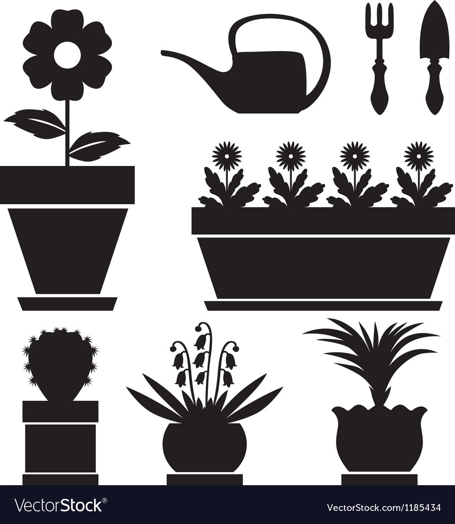 Pot plants vector | Price: 1 Credit (USD $1)