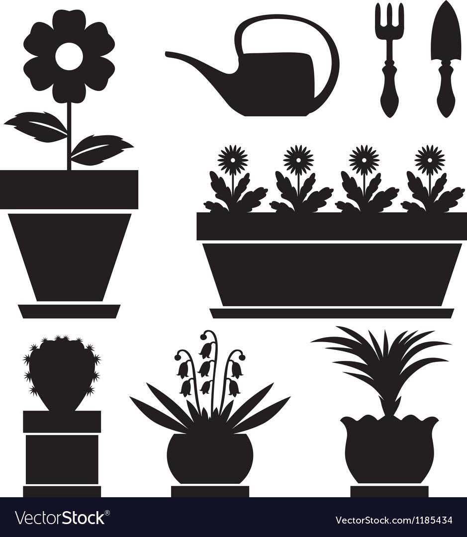 Pot plants vector   Price: 1 Credit (USD $1)