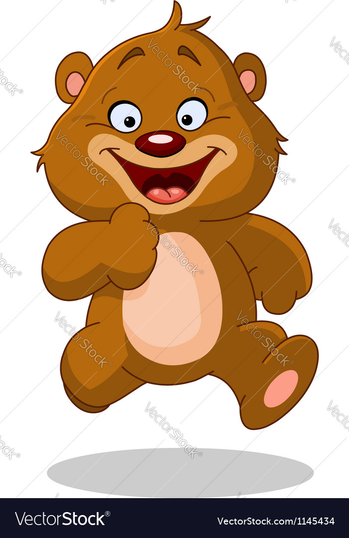 Running teddy bear vector | Price: 1 Credit (USD $1)