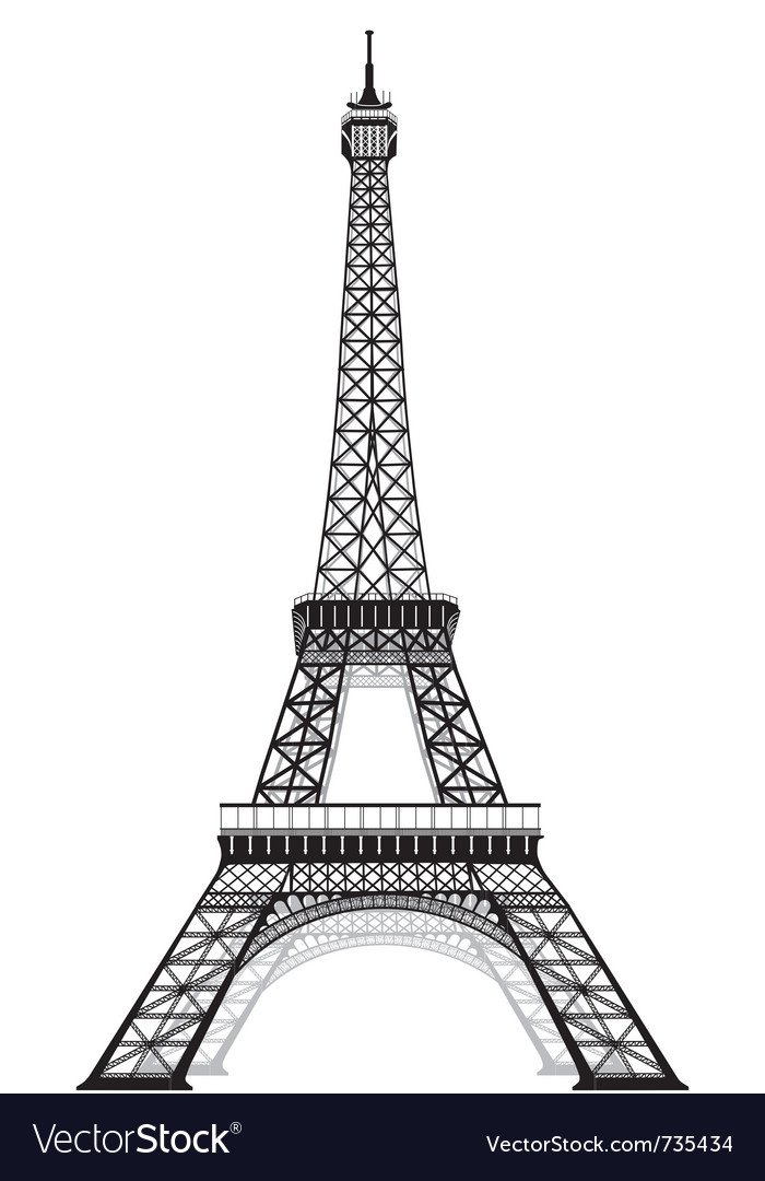 Silhouette of eiffel tower vector | Price: 1 Credit (USD $1)