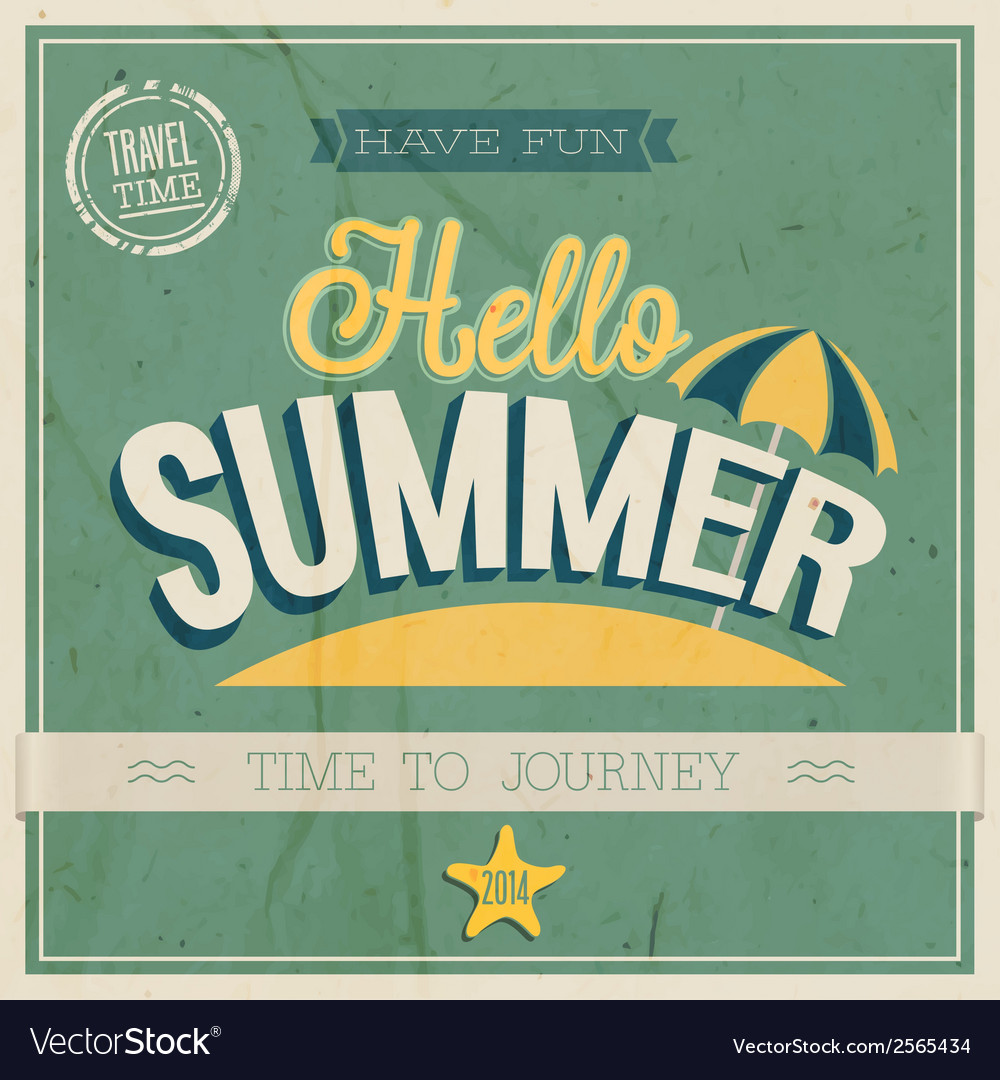 Text hello summer vector | Price: 1 Credit (USD $1)