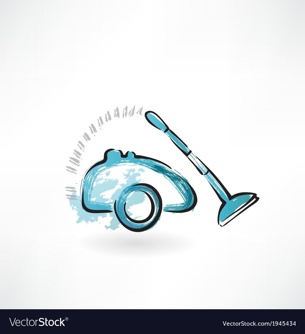 Vacuum cleaner grunge icon vector   Price: 1 Credit (USD $1)