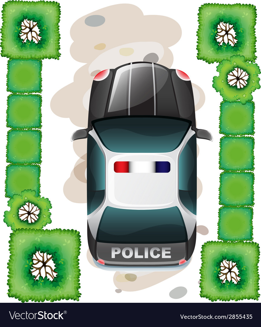 A topview of a police car vector | Price: 1 Credit (USD $1)