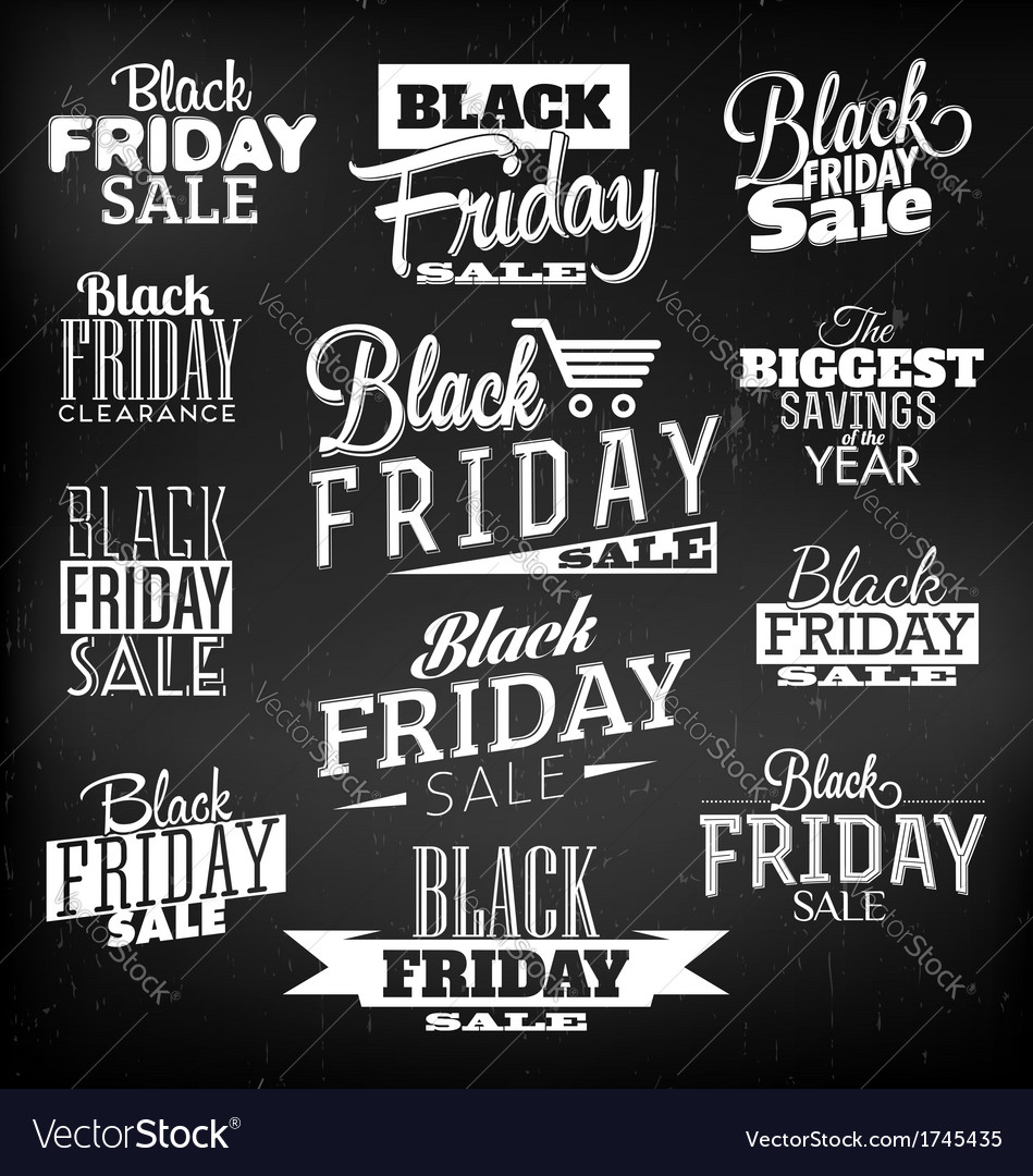Black friday calligraphic designs vector | Price: 1 Credit (USD $1)