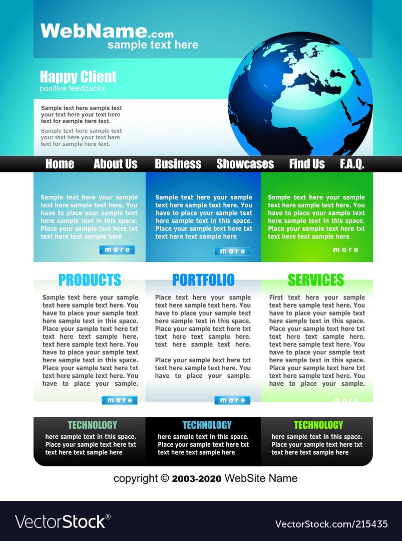 Business website template vector | Price: 3 Credit (USD $3)