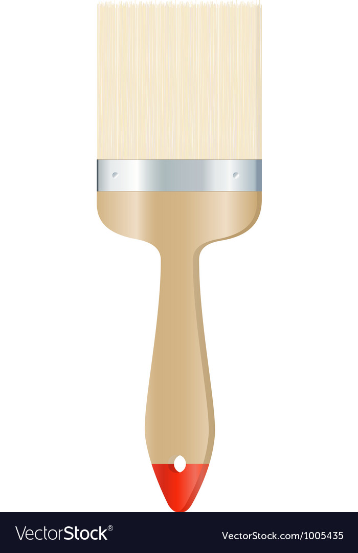 Clear brush on white background vector | Price: 1 Credit (USD $1)