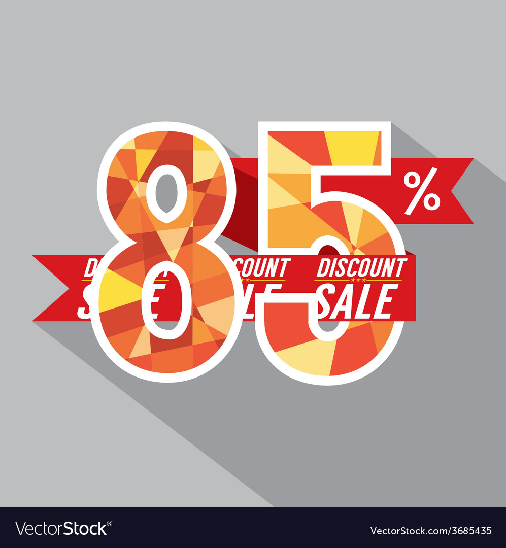 Discount 85 percent off vector | Price: 1 Credit (USD $1)