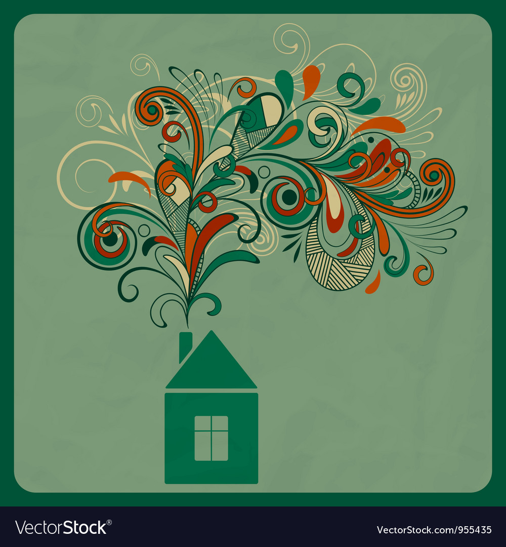 Ecology concept with small house vector | Price: 1 Credit (USD $1)