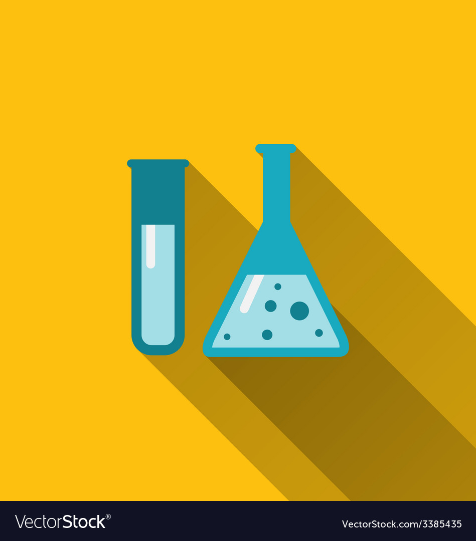 Icons of chemical test tubes with shadows modern vector | Price: 1 Credit (USD $1)