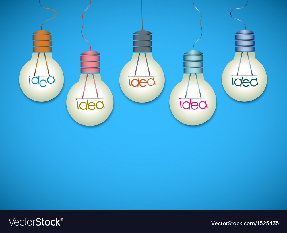 Light bulb idea background vector | Price: 1 Credit (USD $1)