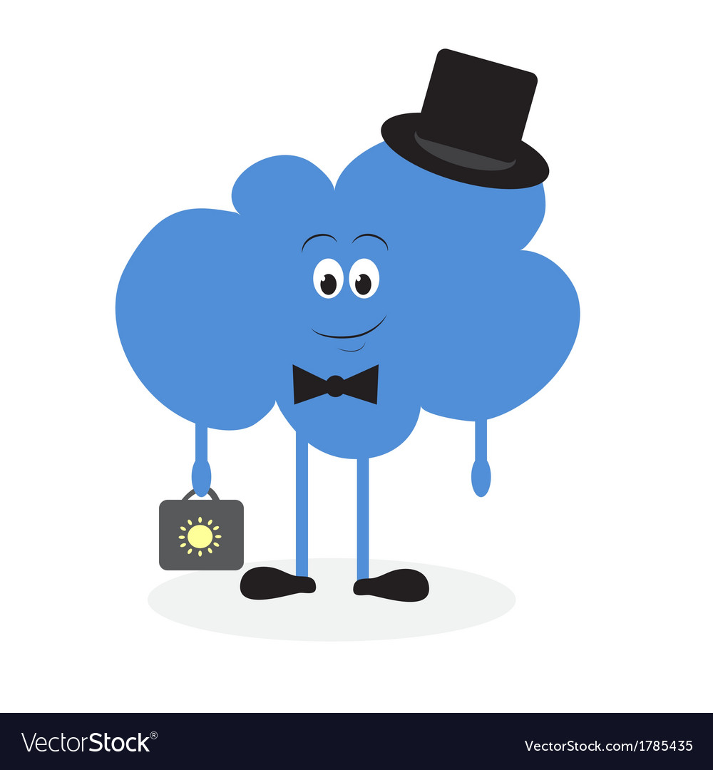Lively cloud with a suitcase vector | Price: 1 Credit (USD $1)