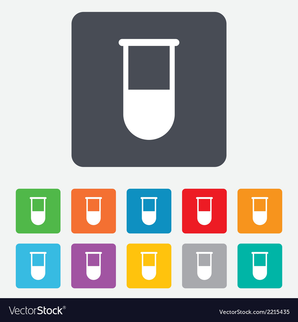 Medical test tube sign icon lab equipment vector | Price: 1 Credit (USD $1)