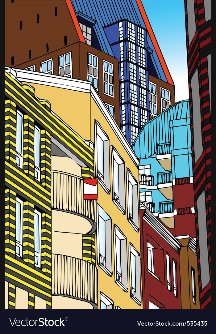 Modern architecture the hague netherlands vector | Price: 1 Credit (USD $1)
