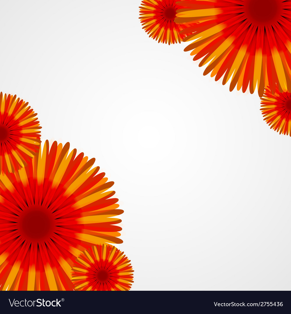 Abstract colorful background with flowers vector | Price: 1 Credit (USD $1)