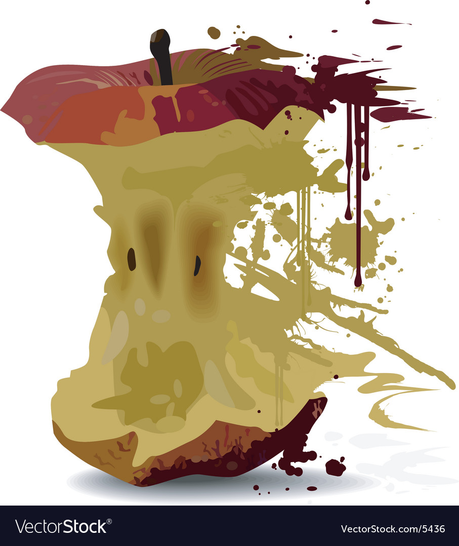 Apple core vector | Price: 1 Credit (USD $1)