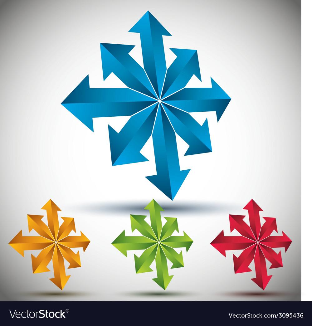Arrows 3d icon vector | Price: 1 Credit (USD $1)
