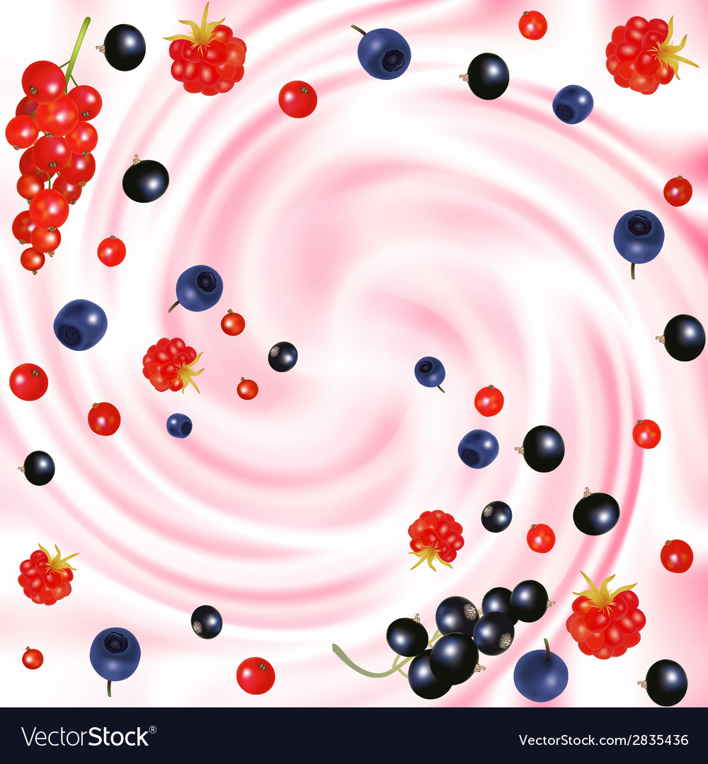 Berries cream vector | Price: 1 Credit (USD $1)