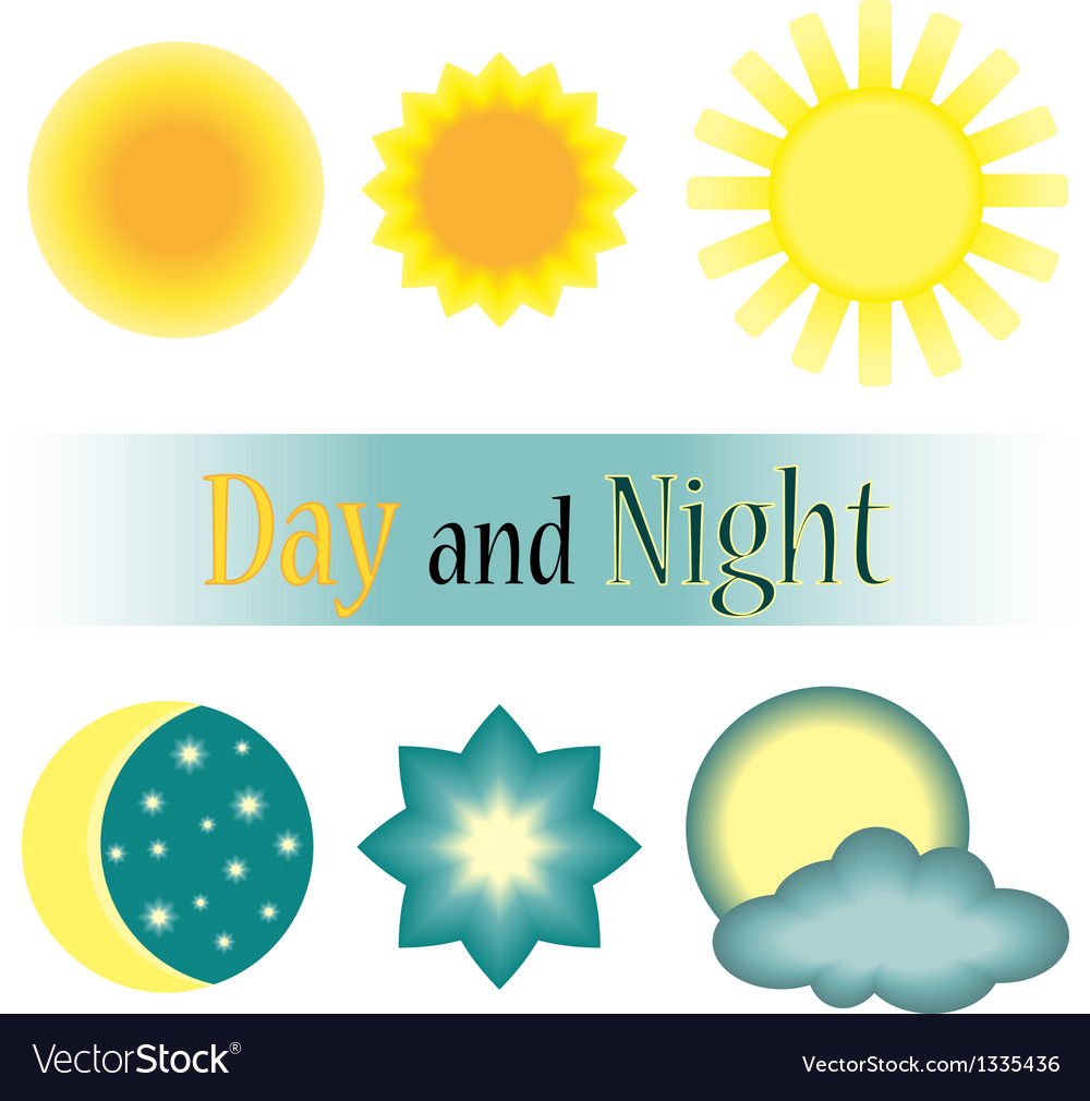 Day and night icon vector | Price: 1 Credit (USD $1)