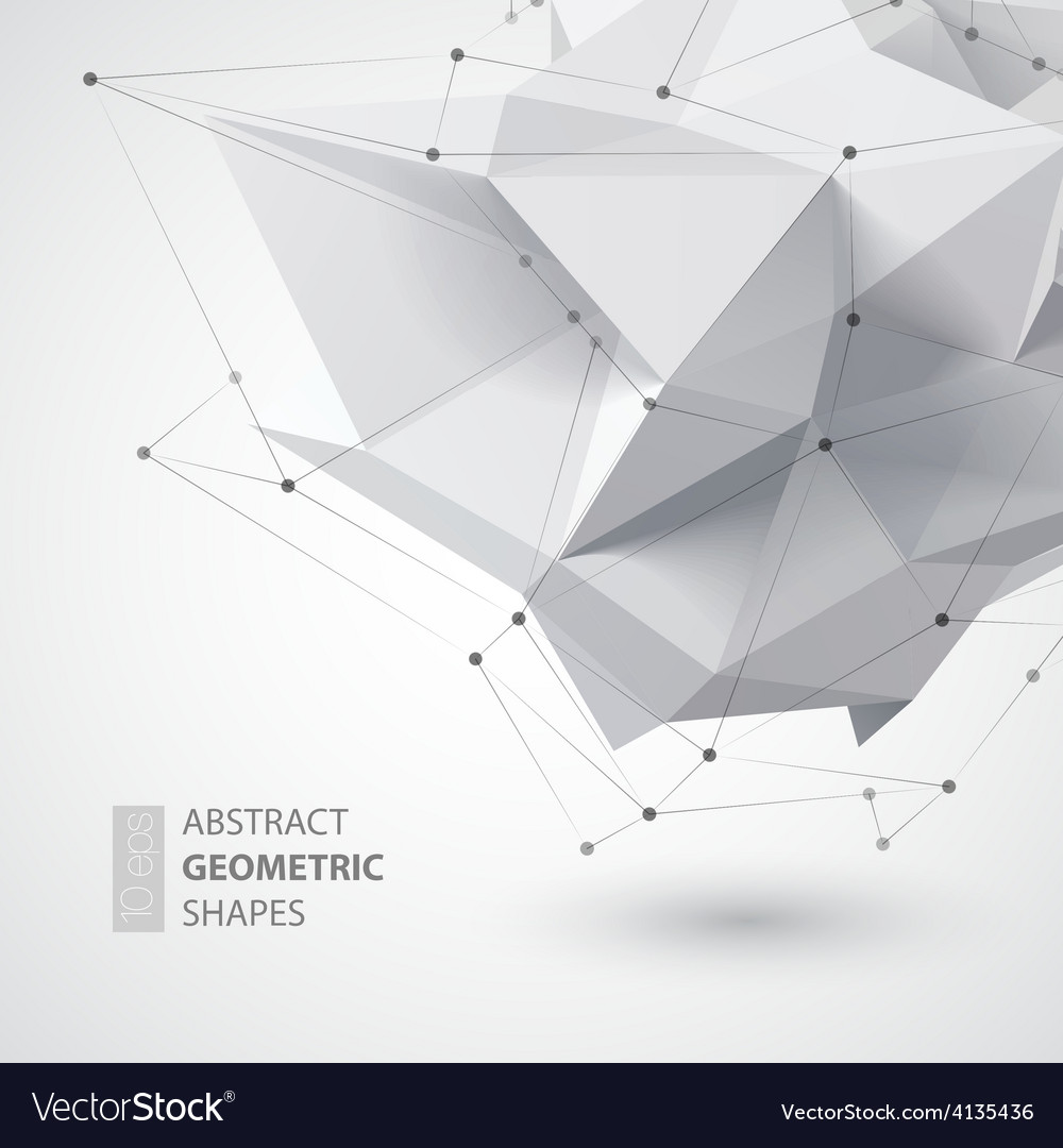 Low polygon geometry shape vector | Price: 1 Credit (USD $1)