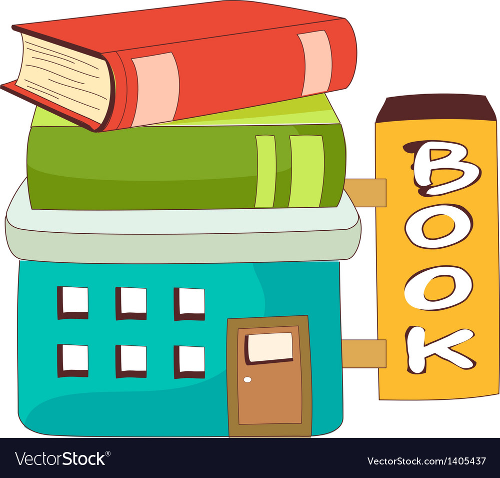 A view of book store vector | Price: 1 Credit (USD $1)