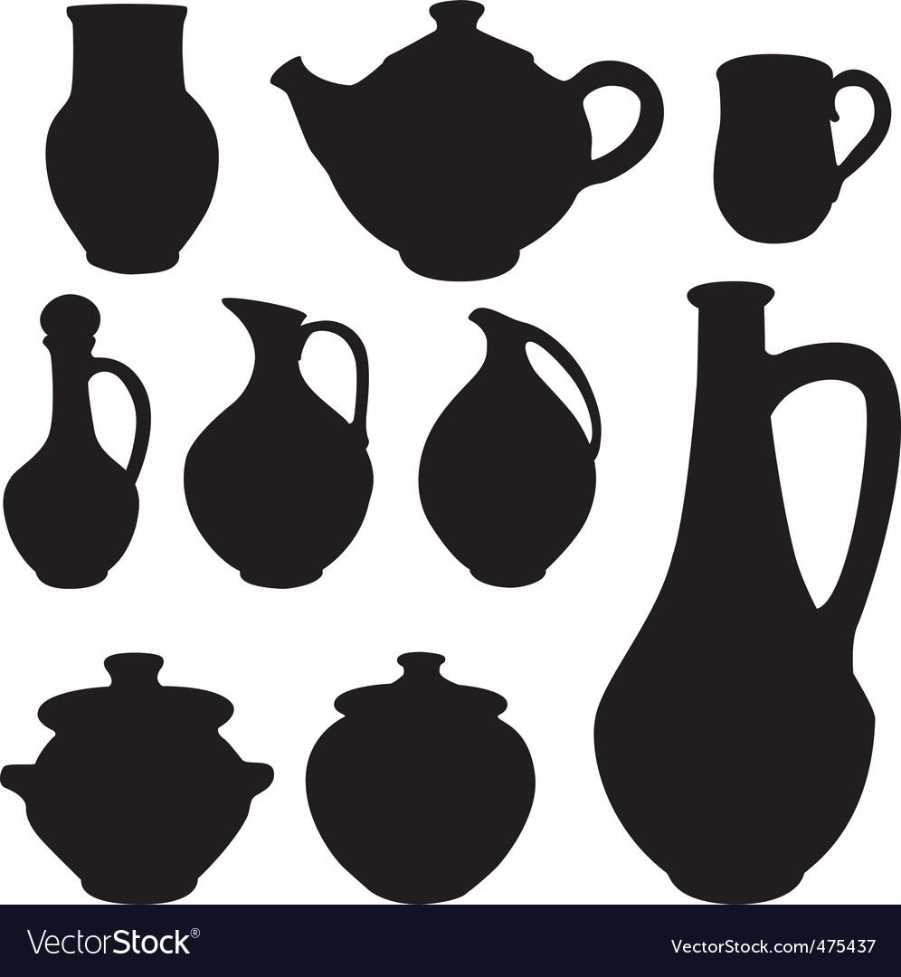 Antique silhouette set ware vector | Price: 1 Credit (USD $1)