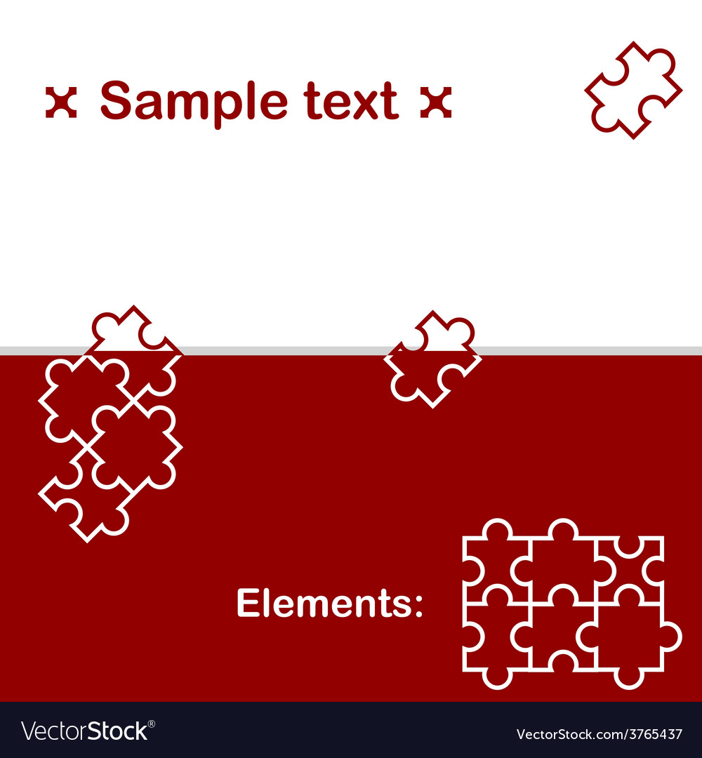 Background with puzzle elements vector | Price: 1 Credit (USD $1)