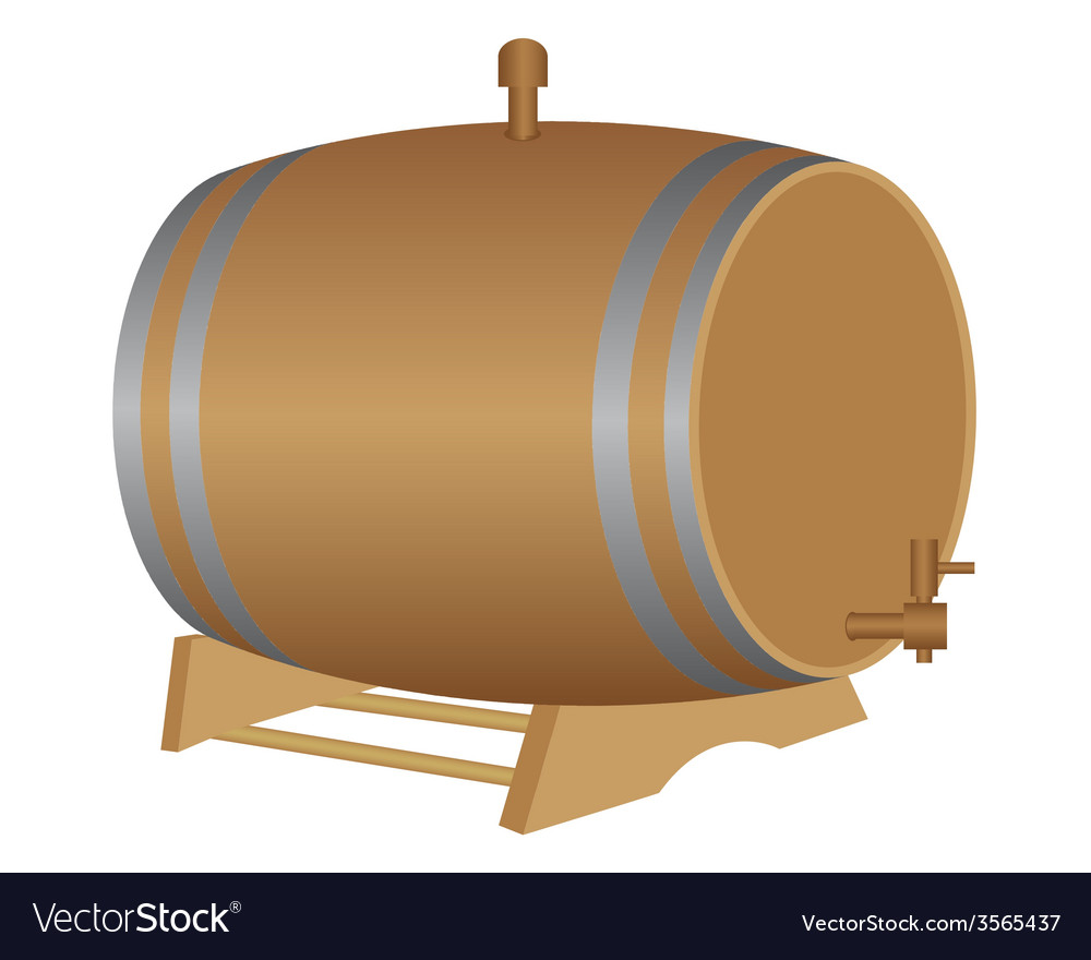 Barrels for wine vector | Price: 1 Credit (USD $1)
