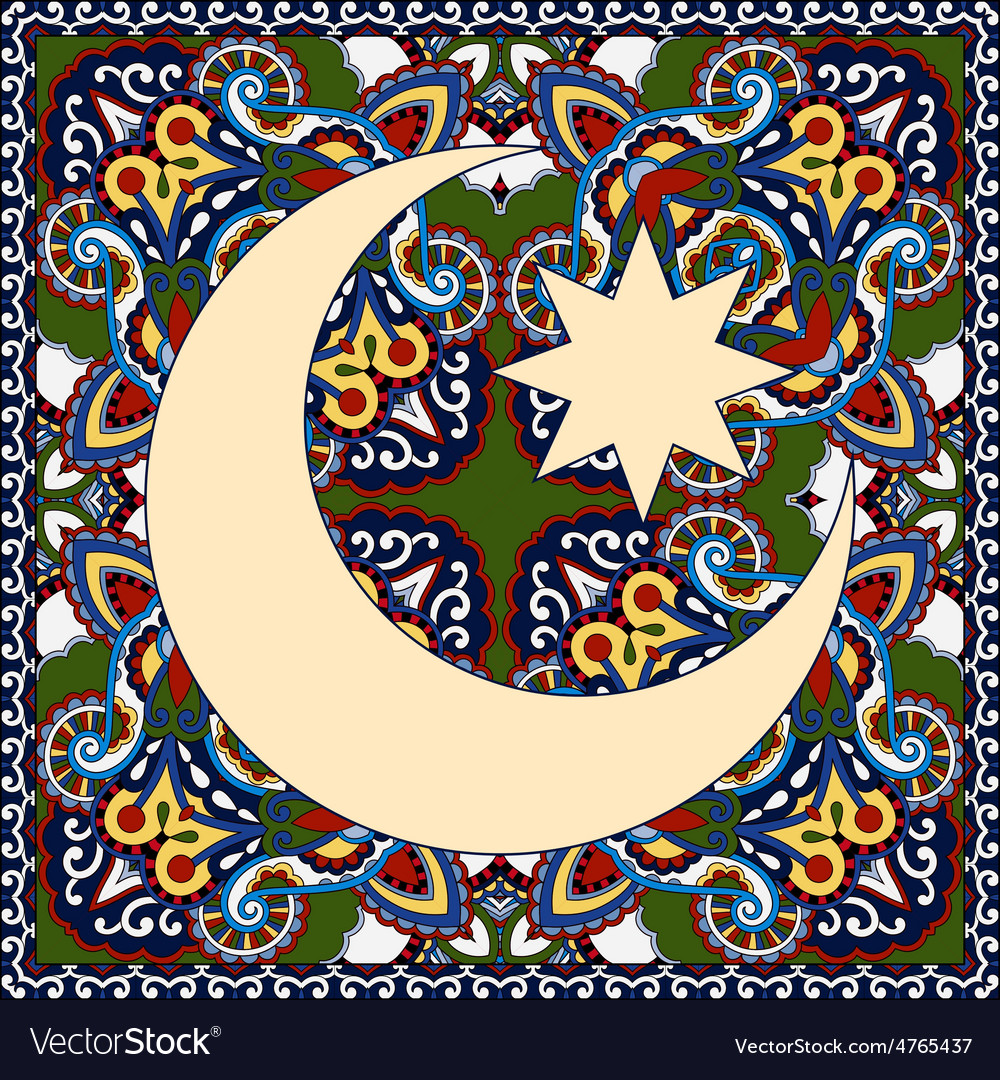 Carpet design for holy month of muslim community vector | Price: 1 Credit (USD $1)