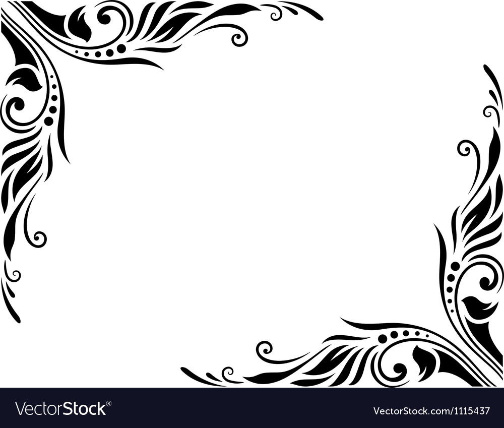 Decorative border style 3 large vector | Price: 1 Credit (USD $1)