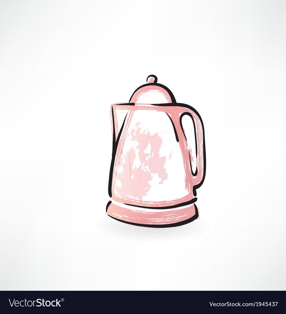 Electric kettle grunge icon vector | Price: 1 Credit (USD $1)