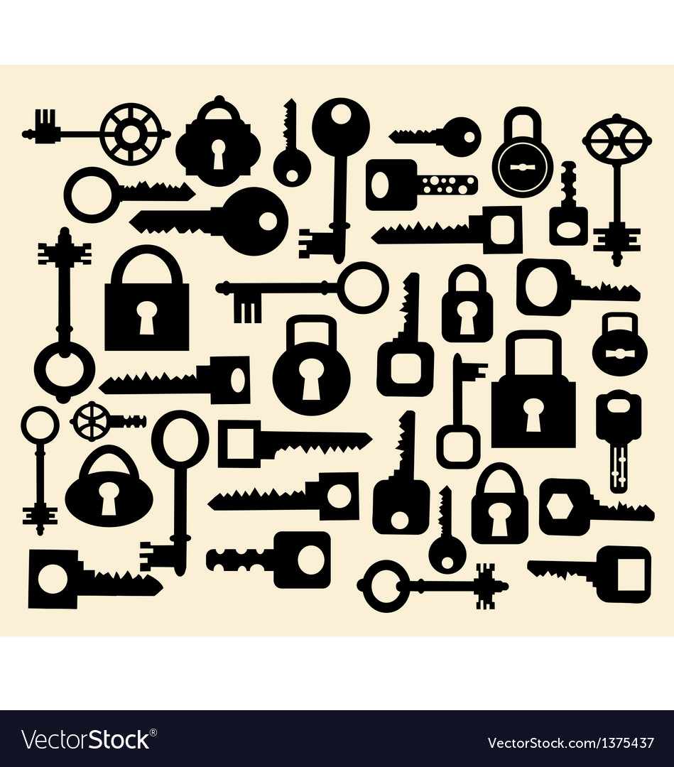 Keys and locks vector | Price: 3 Credit (USD $3)