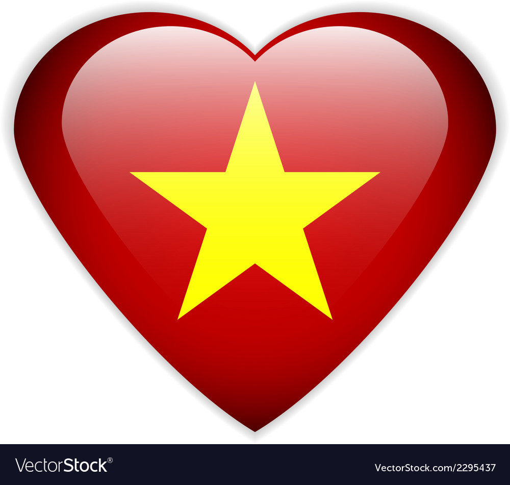 Vietnam flag button vector | Price: 1 Credit (USD $1)